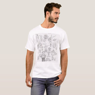 T-shirt Croquis idiots