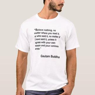 T-shirt Croyance ; une citation par la lumière de l'Asie