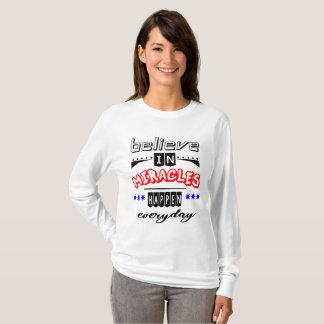 T-shirt croyez aux miracles
