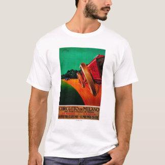 T-shirt Cru PosterEurope de Milan de Di de Circuito