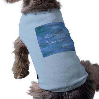 T-shirt Customisez votre chienchien nervuré débardeur