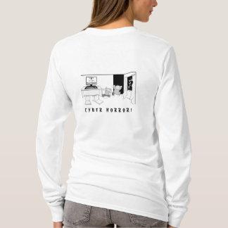 """T-shirt Cyber Horror pour pirate informatique de """"H"""""""