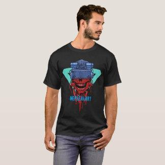 T-shirt cyber skull neplealart 2