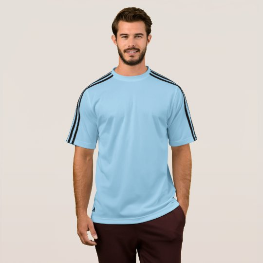 Polo Adidas ClimaLite® pour hommes, Bleu argentin/noir