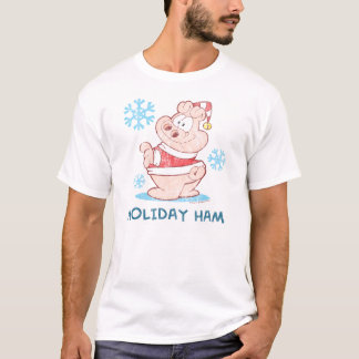T-shirt d'adulte de jambon de vacances d'U.S.Acres