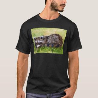 T-shirt d'adulte de raton laveur d'aceo de vaurien