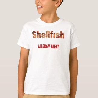 T-shirt d'alerte d'allergie de mollusques et