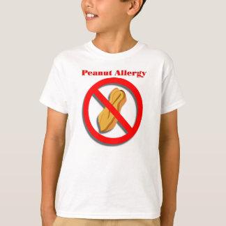 T-shirt d'allergie d'arachide