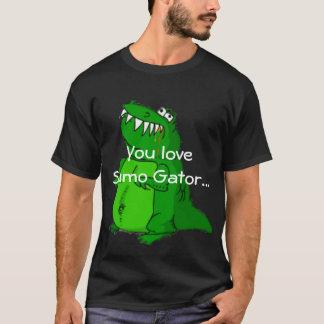 T-shirt d'alligator de sumo - customisé