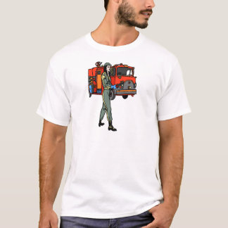 T-shirt Dame du feu