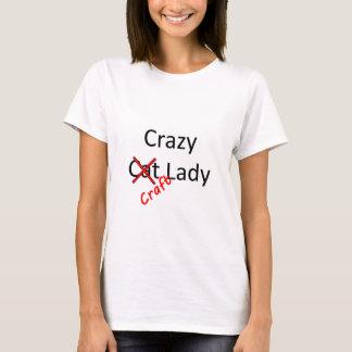 T-shirt dame folle .png de métier
