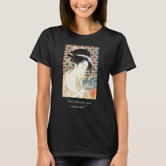 T-shirt Dame japonaise de beauté de cage d'insecte de