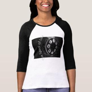 T-shirt Dames de bobine de film 3/4 raglan de douille