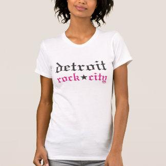 T-shirt Dames de chemise de ville de roche de Detroit