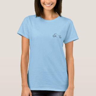 T-shirt Dames de croiseur de Colombie bleues