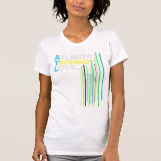 T-shirt Dames (vertes) d'amour de techno d'Atlanta