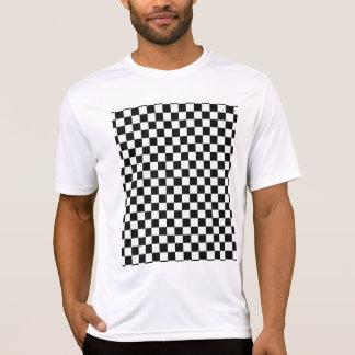 T-shirt Damier classique noir et blanc STaylor
