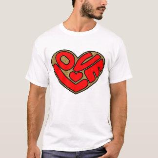 T-shirt d'amour de femmes et de dames