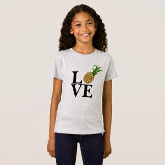 T-shirt d'amour de l'ananas de la fille