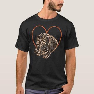 T-shirt d'amour de teckel