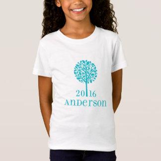 T-shirt d'Anderson de turquoise de filles
