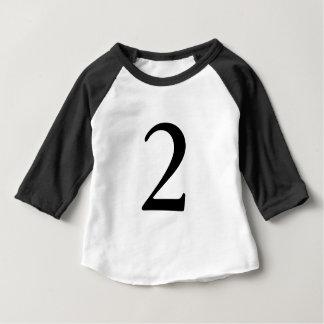 T-shirt d'anniversaire d'âge du numéro 2