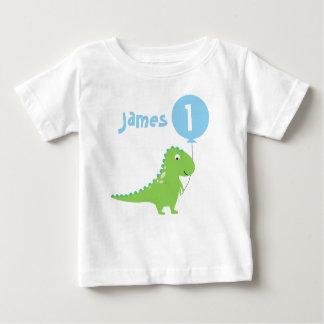 T-shirt d'anniversaire de ballon de dinosaure de