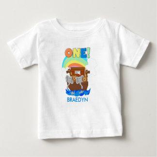 T-shirt d'anniversaire de bébé de l'arche de Noé