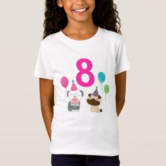 T-shirt d'anniversaire de chiot de Personalizable