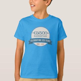 T-shirt d'anniversaire d'Edison d'enfants 125th
