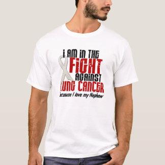 T-shirt Dans le NEVEU de cancer de poumon de combat