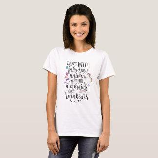 T-shirt Danse avec la chemise de fées, de sirène et de