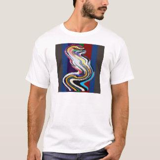T-shirt Danse heureuse - vagues en verre souillé