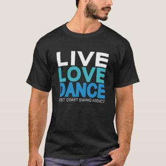 T-shirt Danse vivante d'amour - oscillation de côte ouest