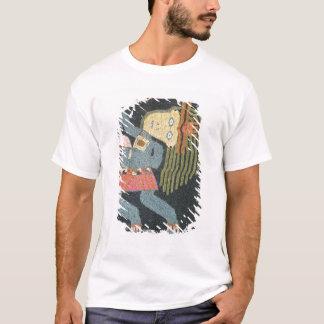 T-shirt Danseur tissé de laine avec le bâton, tribu de