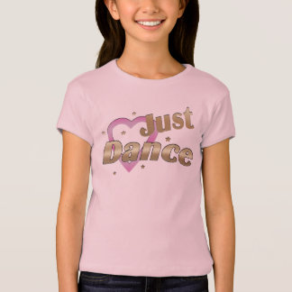 T-shirt Dansez juste le rose et le bébé de filles d'or -
