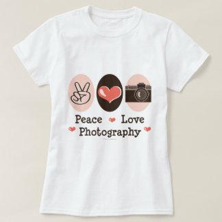 T-shirt d'appareil-photo de photographie d'amour