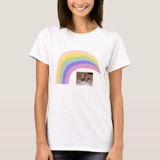 T-shirt d'arc-en-ciel de lévrier italien