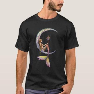T-shirt d'art d'imaginaire de lune de sirène