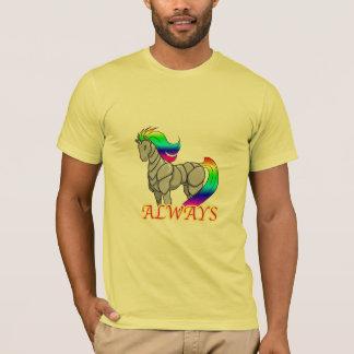 T-shirt d'attaque de licorne de robot