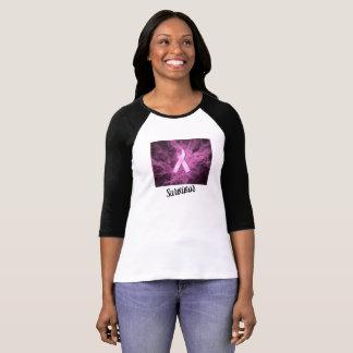 T-shirt d'attitude de survivant de cancer du sein
