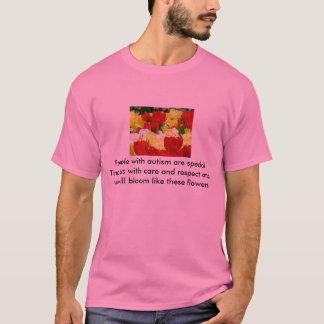 T-shirt d'autisme, fleurs