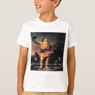 """T-shirt Davy Crocket """"vont en avant"""" citation de sagesse"""