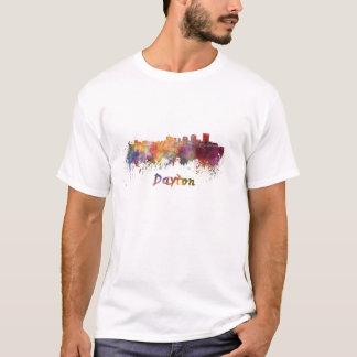 T-shirt Dayton skyline in watercolor