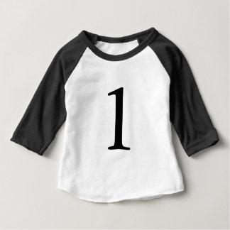 T-shirt de 1 an d'anniversaire de nombre