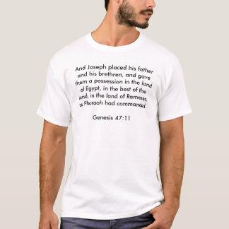 T-shirt de 47:11 de genèse
