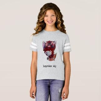 T-shirt de base-ball de la fan de Laynier