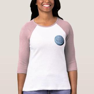 T-shirt de base-ball de lune de MST3K (rose)