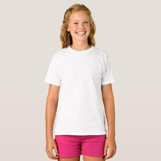 T-shirt de base de Hanes de filles faites sur