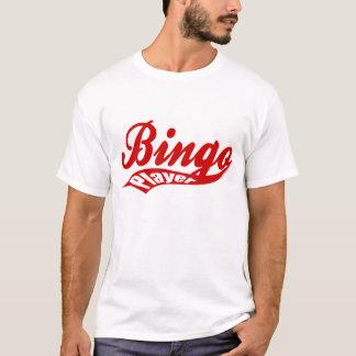 T-shirt de base de joueur de bingo-test du